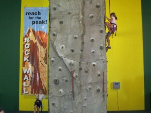 grace climbs rock wall 2013